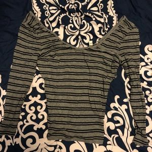 NWT express 3/4 crop top